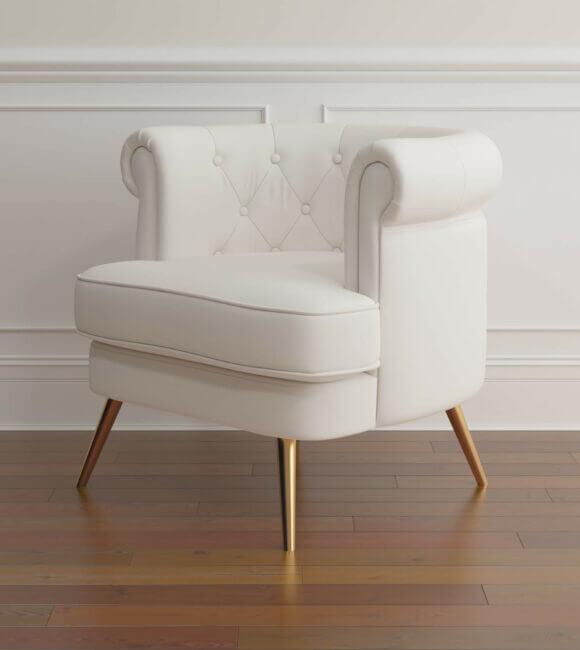 Barrel Chair Simple Scene 02