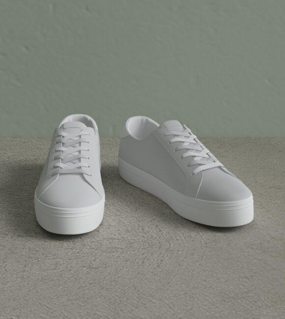 White Sneaker Simple Scene