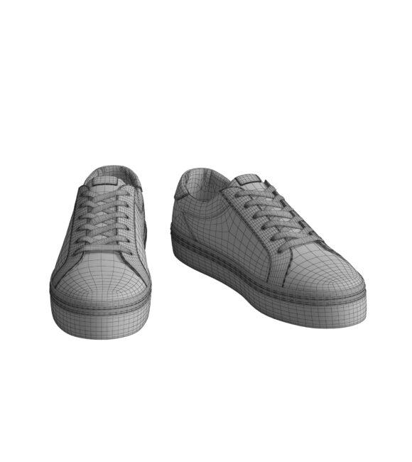 White Sneaker Mesh