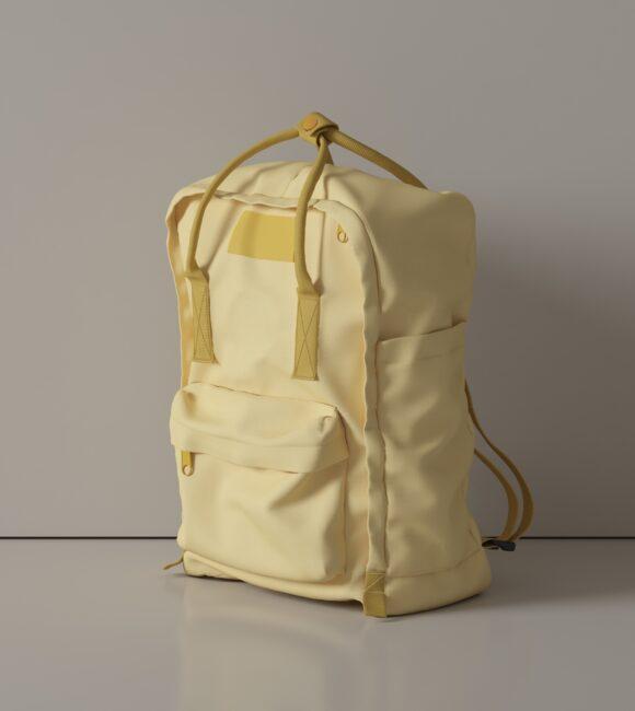 Yellow Backpack Simple Scene