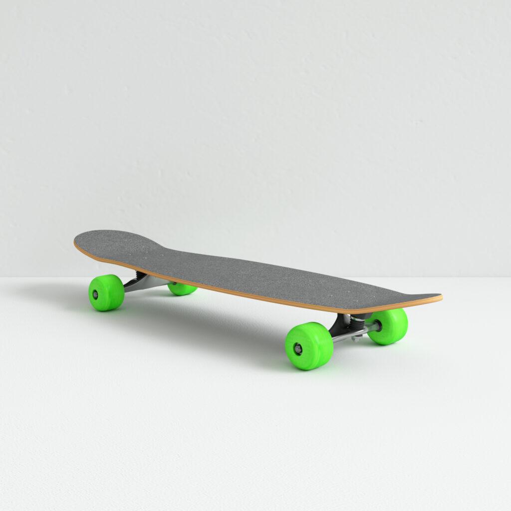 3d model skateboard render